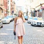 one shoulder dress in soho