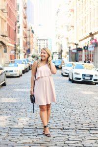 one shoulder dress in soho