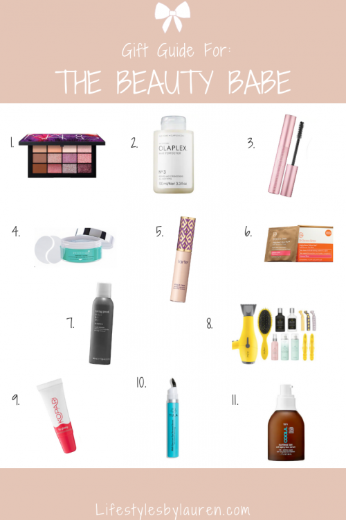 gift guide for the beauty babe