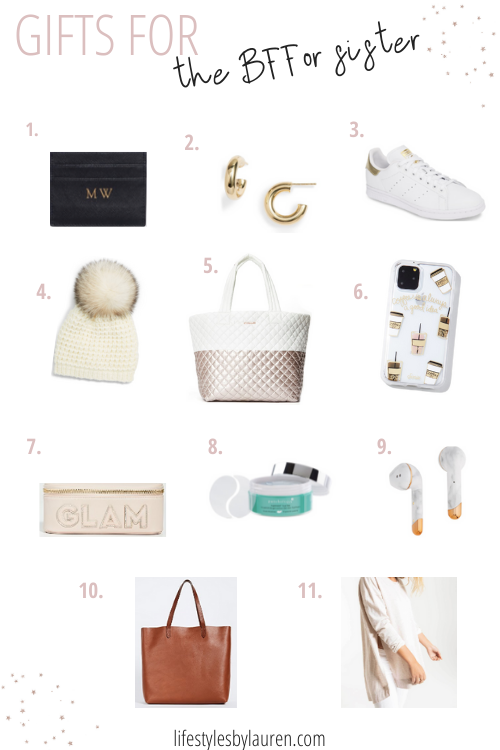 gift guide for the bff or sister